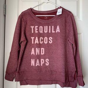 Tequila Tacos Naps crewneck sweatshirt